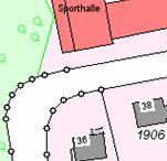 Die Grafik zeigt einen Ausschnitt aus der Liegenschaftskarte