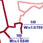 Die Grafik zeigt einen Ausschnitt aus dem WMS-Dienst  Bodenrichtwerte ab 2004 .