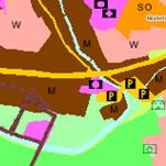 Die Grafik zeigt einen Ausschnitt aus den Flächennutzungsplänen