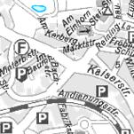 Die Grafik zeigt einen Ausschnitt aus der Stadtkarte grau