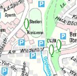 Die Grafik zeigt einen Ausschnitt aus der Stadtkarte light