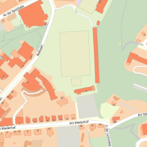 Die Grafik zeigt einen Ausschnitt aus dem WMS-Dienst  Stadtplanwerk Ruhrgebiet 2.0 .