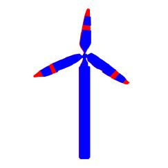 Die Grafik zeigt ein Symbol der Windenergieanlagen.