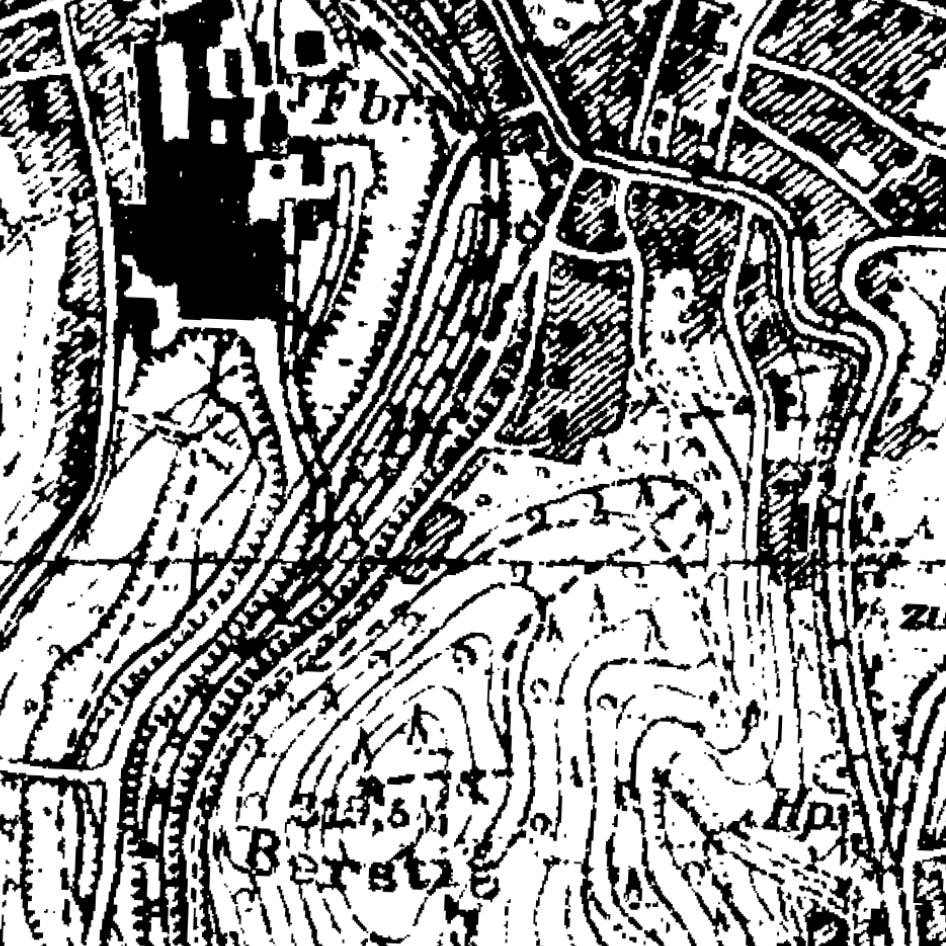 Die Grafik zeigt einen Ausschnitt aus dem WMS-Dienst  WMS NW TK25 1936-1945 .